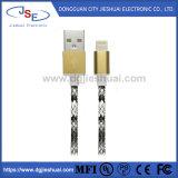 Mfi certifiés sur le fil de cuir et de la synchronisation de la foudre de charge rapide de câble pour iPhone/iPad/iPod