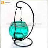 ホーム装飾Candlesticはランタンのガラス蝋燭ホールダーをハングさせた
