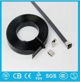 Fascetta ferma-cavo rivestita elencata dell'acciaio inossidabile del PVC dell'UL di Dnv di alta qualità