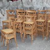 曲げられたラインは終わりのブナの森の十字の背部食事の椅子を滑らかにする