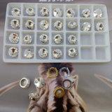 مستديرة [ريفولي] بلّوريّة مجوهرات مدلّاة حجارة مع فضة ظهر [فويلد]