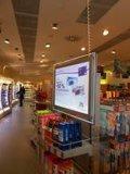 La publicidad Display de cristal con retroiluminación LED