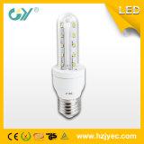 Luz de vidro do milho do diodo emissor de luz da alta qualidade 6000k 2u 8W E27