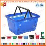 Cestas de compra do supermercado de Handls do dobro da qualidade superior por Fábrica (Zhb128)