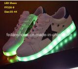 Sapatas luminosas do diodo emissor de luz das sapatas lisas as mais atrasadas do diodo emissor de luz da luz (FF326-9)