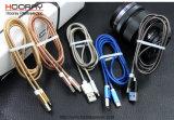 Los datos micro del cargador el 1m del teléfono móvil del cable del USB de los cables del resorte del metal cargan los accesorios del teléfono móvil