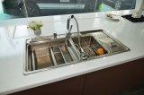 Guangzhou-neues Tendenz-modernes hohes Glanz-Ende-mexikanische Projekt-Küche-Schränke