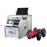Macchina fotografica del trattore a cingoli di controllo della conduttura delle acque luride