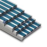 Scala dell'inserto del carborundum che arrotonda la punta delle strisce/arrotondare la punta di alluminio della scala anti slittamento