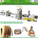 PVC機械を作るプラスチック家具の端バンディングのプロフィールシート