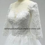 Vedere attraverso l'abito di cerimonia nuziale elegante posteriore di temperamento dei vestiti da cerimonia nuziale del merletto