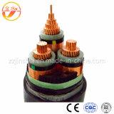고전압 XLPE/PVC Swa 고압선