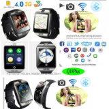 teléfono elegante del reloj de 3G WiFi con la supervisión de salud y la cámara Q18plus