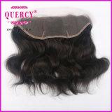 Frontal bajo de seda del cordón del encierro de la Virgen del precio al por mayor del pelo 13*4 de la Virgen de la onda natural peruana humana del pelo