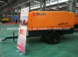 공장 직매 194kw Cummin S 상표 디젤 엔진 2개의 바퀴를 가진 광업에 의하여 모는 나사 공기 압축기 펌프