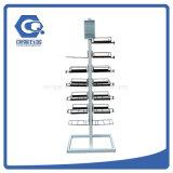 Kundenspezifische Knock-Downfußboden-Metallsturzhelm-Bildschirmanzeige-Zahnstange für den Verkauf