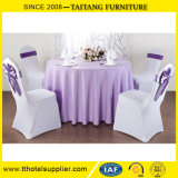 New Wedding Banquet Hotel Round Plain White Tablecloth