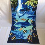 250GSM Blue Sea Fish Dolphin Beach Towel Microfiber