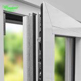 Modèle en aluminium articulé par carreau simple de porte de pliage de porte d'oscillation de double vitrage