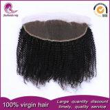 Выходцев из вьющихся индийского Реми человеческого волоса 13*4 кружевной фронтальной