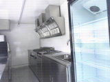 De openlucht Aanhangwagen van de Keuken van het Fiberglas van het Snelle Voedsel Mobiele met de Kleine Kiosk van de Verkoop van het Voedsel