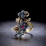 [رترو] أسلوب سبيكة مجوهرات عنب عنقود لون حجارة حل
