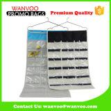 Élégante en nylon 600D & T/C Stockage pliable pendaison Organiseur avec fenêtre PVC