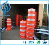 El tráfico de la barrera de tráfico de plástico de tambor con la Base de servicio pesado