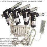 Actuators van gelijkstroom de Lineaire slag 12VDC OF 24VDC 1000N 200mm van Uitrustingen met de doos en de zaktelefoon van de Controle (FY011B)