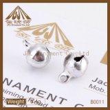 Forman Niza a 14 mm Calidad campanas anillo de color plata a granel