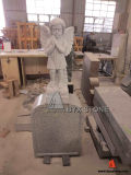 Granito Baby Monument/Infant Headstone con Wing Carving