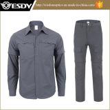 7-Colors che caccia rapidamente abbigliamento tattico dei pantaloni delle camice di combattimento smontabile a secco