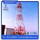 60m 4 patas de aço Ângulo Galvainzed Auto Suportado Telecom Tower