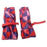 Rote Kontrast-Check PU-Regen-Handschuhe für Baby/Kind
