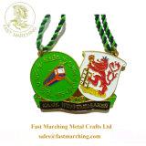 工場価格のカスタム緑のリボンのエナメルは金属の軍隊メダルを与える
