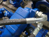 Stahldraht-Spirale-hydraulische Schlauchleitung LÄRM en-856 SAE100 R12at vier