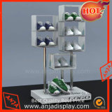 Cube de bois du caisson de nettoyage rack d'affichage