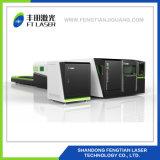 pleine machine de gravure de découpage de laser de fibre en métal de protection de la commande numérique par ordinateur 1000W avec la couverture 6020