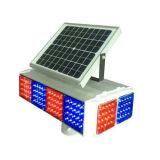 Quatro lados Solar Tráfego LED piscando luz de advertência