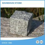 Pavé de granit non poli en plein air