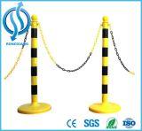 Poste de corde de barrière de côté et d'aéroport d'acier inoxydable