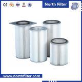 Filtro customizável do cartucho do ar da fibra de vidro para a venda