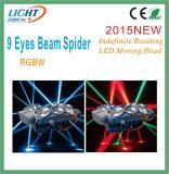Spin die Hoofd 9 Lichte leiden van de Straal van Ogen beweegt