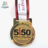 Поставьте спортов эмали подарка 65mm медаль марафона выдвиженческих изготовленный на заказ в кораблях металла