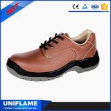 工場女性の安全靴のピンクの革Ufa083