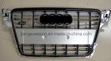 """Noir Avant Auto Car Grille pour Audi S4 2008-2011 """"avec Logo Chromé"""