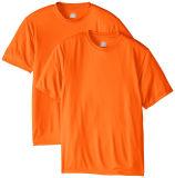 明白な綿の不足分の袖のTシャツは印刷の方法ロゴのTシャツをカスタマイズする