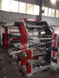 Machine de presse typographique d'étiquette de Flexo de sachet en plastique de 4 couleurs