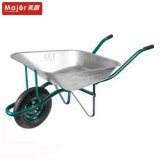 Wb6203 Construction Steel Tray Wheelbarrow, Puncture Proof Trolley
