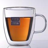 Tazza doppia fatta a mano di vetro di Borosilicate delle tazze di tè della tazza di caffè